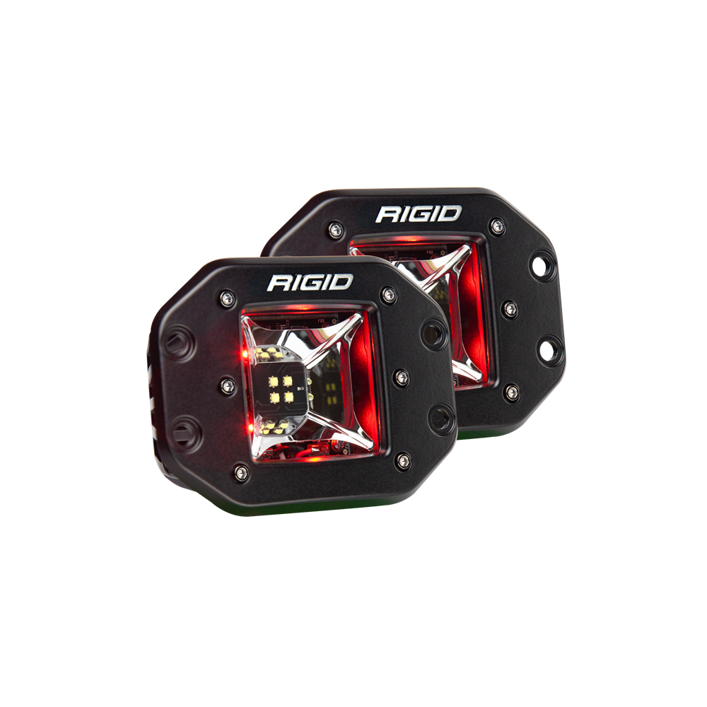 Rigid Radiance Pod Scene Lights (Red Backlight)